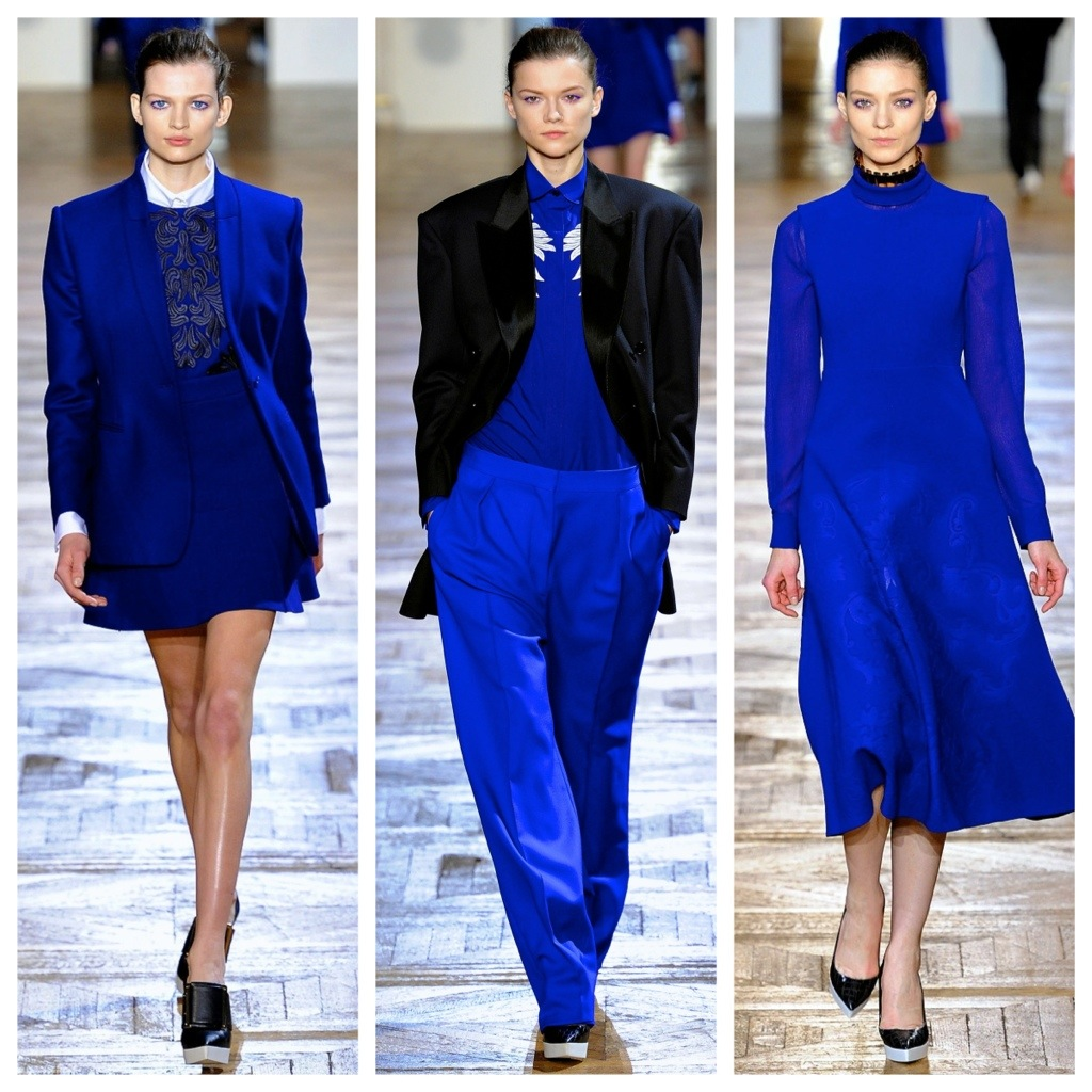 Trends Autumn/Winter 2012 / 2013: Delves into The Black with Blue… Electric